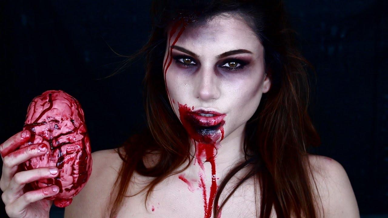 Zombie Girl Makeup Tutorial - YouTube