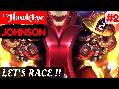 Let's Race [Rank 8 Johnson] | ᵀˢH̶awk̶E̶y̶e Johnson Gameplay and Build #2 Mobile Legends