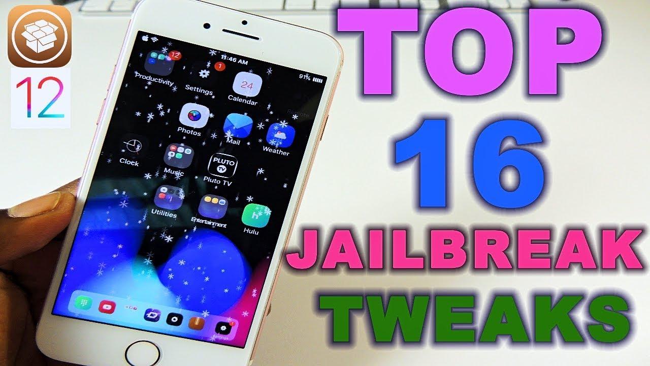 TOP 16 JAILBREAK TWEAKS iOS 12 by AppleTechPro101