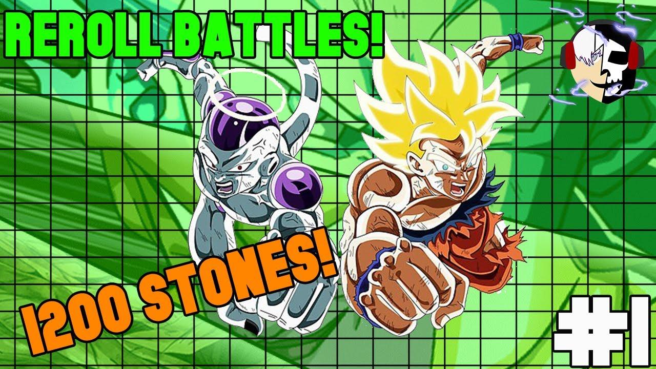 Reroll Battles #1|1200 Stones! Lr goku & Frieza Summons!|Dbz Dokkan Battle|
