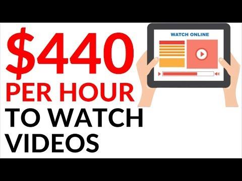 Earn $440 in 1 Hour WATCHING VIDEOS! (Make Money Online)