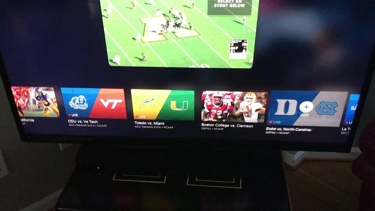 Split screen (multicast) on the Watch ESPN APP