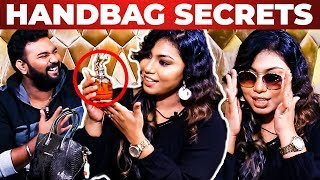 RJ Nancy Handbag Secrets Revealed by Vj Ashiq | What's Inside the Handbag?