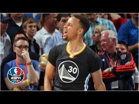 Steph Curry hits half-court buzzer beater to beat Kevin Durant, Thunder | ESPN Archives