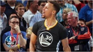 Download Steph Curry hits half-court buzzer beater to beat Kevin Durant, Thunder | ESPN Archives Mp3 and Videos