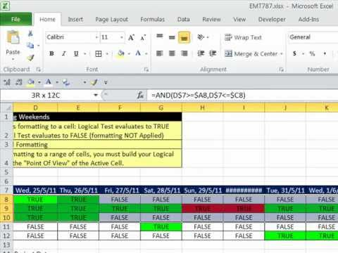 Excel Magic Trick 787 Conditional Formatting Basic To Advanced (30