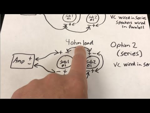 amp and sub wiring diagram chevy radio how to wire two dual voice coil subs youtube