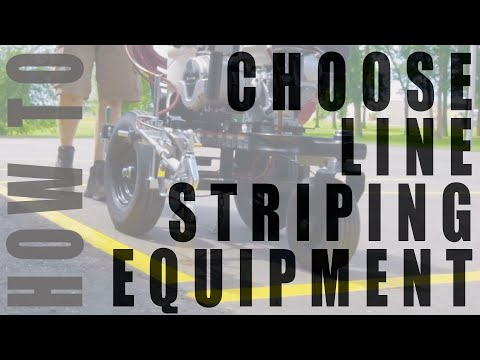How To Choose The Right Parking Lot Line Striping Machine
