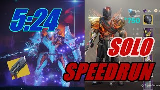 Solo Nightfall Speedrun in 5:24 - Inverted Spire -Solstice Of Heroes 2019 (CONSOLE)