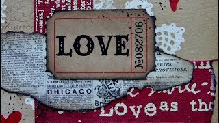 6 x 6 Mixed Media Challenge -  Love - #ArtfulEvidence
