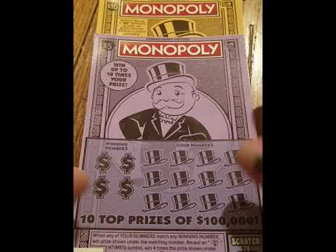 Big win on the new Monopoly ticket!!! PA Lottery scratch off tickets