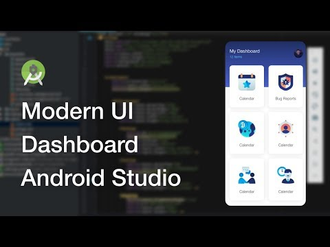 Modern Dashboard UI Design Android Studio Tutorial