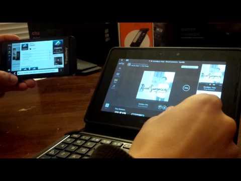 Spotify Web BETA Running on BlackBerry Z10 and BlackBerry PlayBook