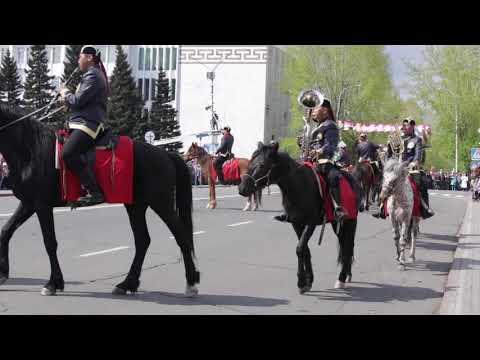 Парад 9 Мая 2019 Тува (часть с конным дефиле)