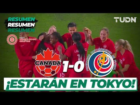 Resumen y Goles | Canadá 1 - 0 Costa Rica | Semifinal Preolímpico Femenil | TUDN