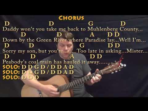 Paradise (John Prine) Guitar Cover Lesson with Chords/Lyrics - Munson