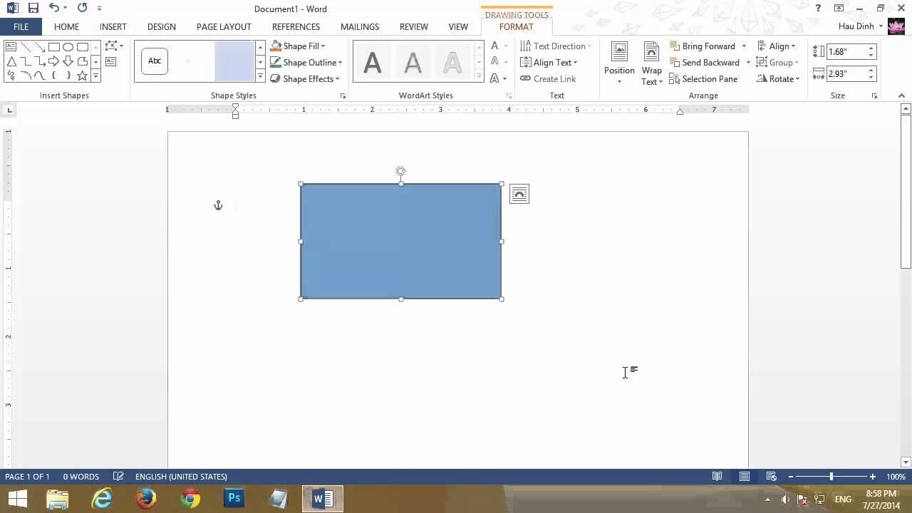 Chuyển đổi đơn vị đo trong word từ inch sang cm