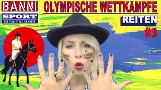 REITEN Horse Riding De Equitación #3 - Olympic Wettkampf - Original Banni Sport Fan Style & Make-up