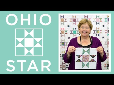 Make a Ohio Star Quilt with Jenny Doan of Missouri Star! (Video Tutorial)
