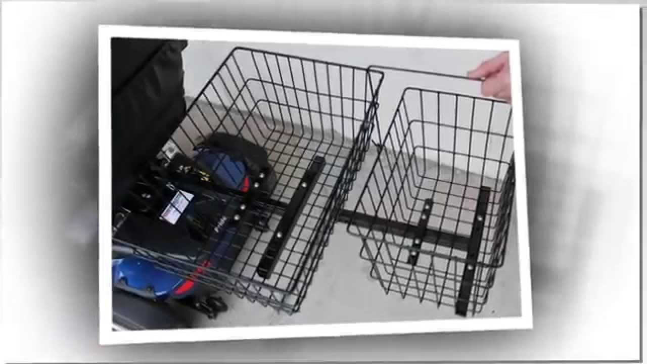 Pride Mobility Scooter >> Extra Large Jumbo XL Rear Basket for Pride Mobility Scooter - YouTube