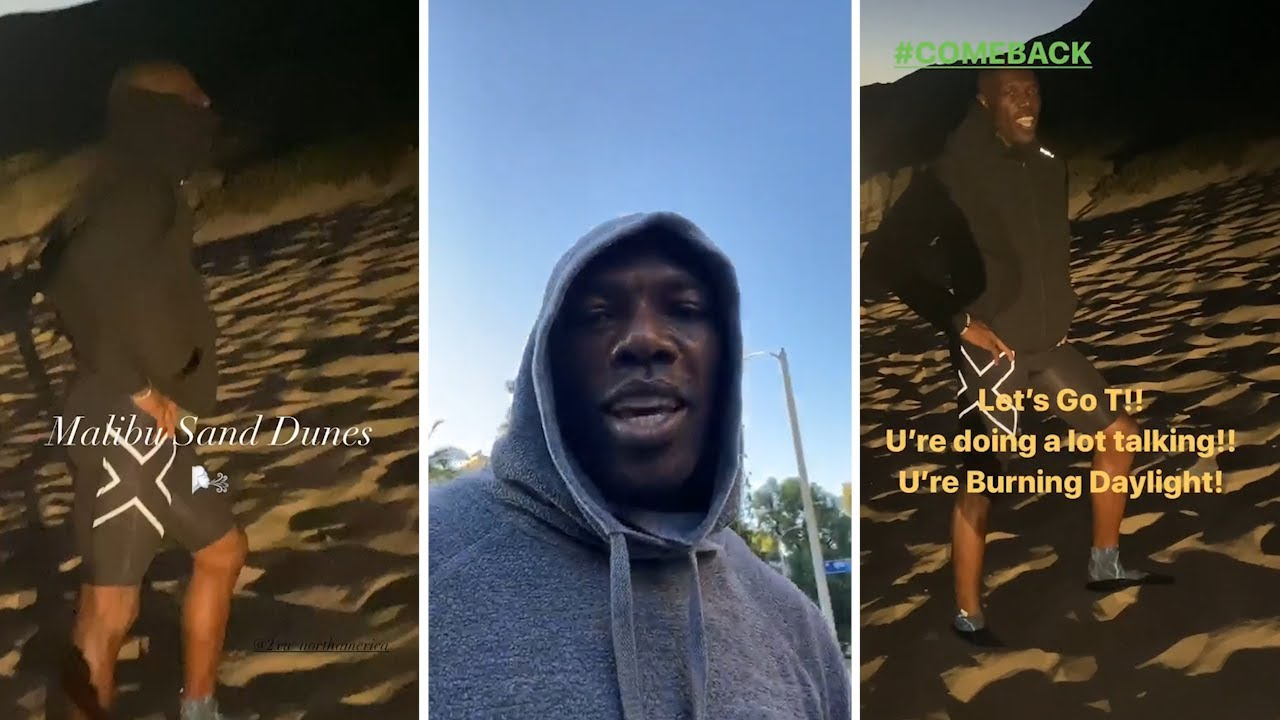 Terrell Owens INSANE Sand Dunes Workout AGAINST The Wind In Malibu At Age 46