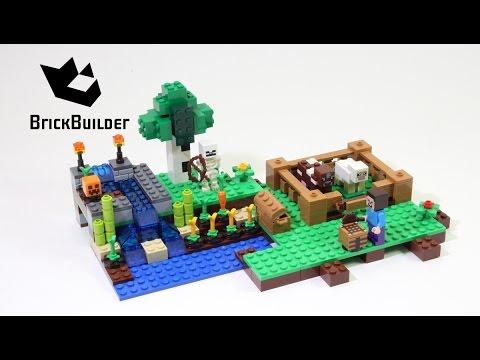 Lego Minecraft 21114 The Farm - Lego Speed Build