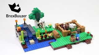 Lego Minecraft 21114 The Farm - Lego Speed Build