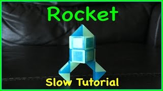 Rubik's Twist or Smiggle Snake Puzzle Tutorial: How to Make a Rocket Shape - Step by step, SLOW