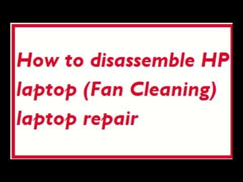 How to disassemble HP 15  laptop  cpu cooling Fan Cleaning.