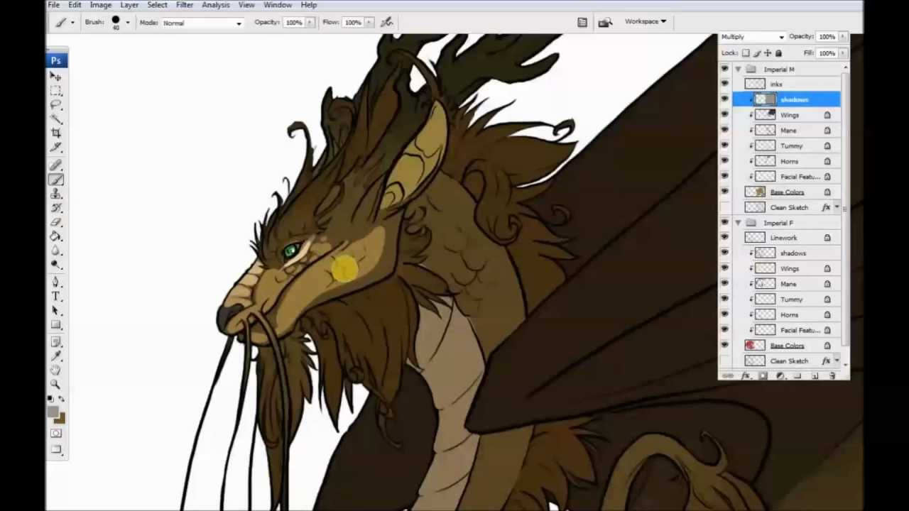 Illustration time lapse imperial dragon youtube illustration time lapse imperial dragon flight rising ccuart Image collections