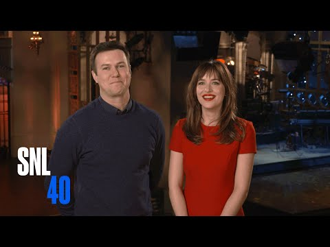 SNL Host Dakota Johnson and Taran Killam Beg Her Mom To Watch Fifty Shades of Grey video
