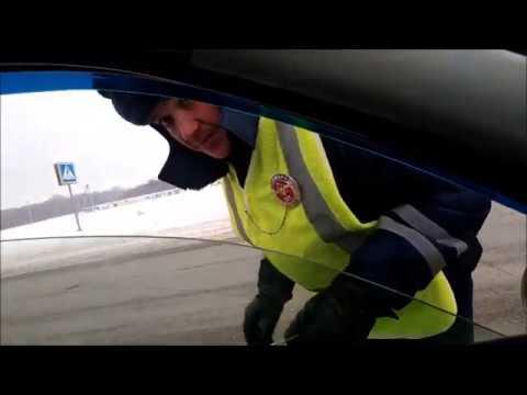 ДПС УФА Нарушители в погонах или причина остановки - задний номер в снегу