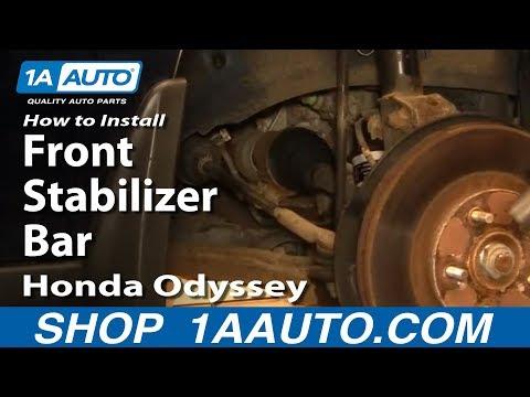 How To Install Replace Front Stabilizer Bar Link Honda Odyssey 99-04 1AAuto.com