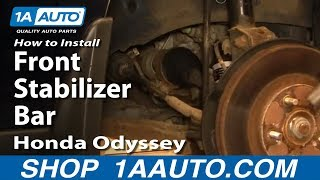 How To Install Replace Front Stabilizer Bar Link Honda Odyssey 99-04 1AAuto.com