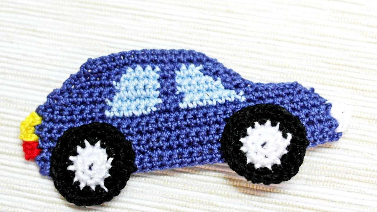 how to make a crocheted car applique diy crafts tutorial