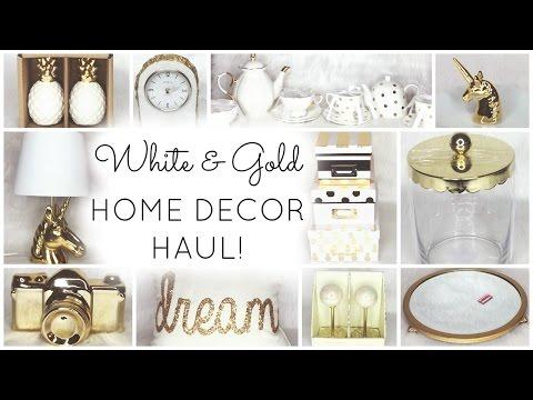 White & Gold Home Decor Haul ♡ HomeGoods, Target, World Market, Kirklands, TJ Maxx & Marshalls
