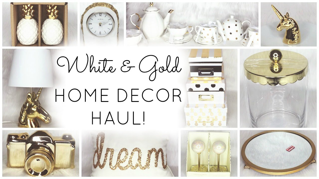 White & Gold Home Decor Haul ♡ HomeGoods, Target, World Market ...