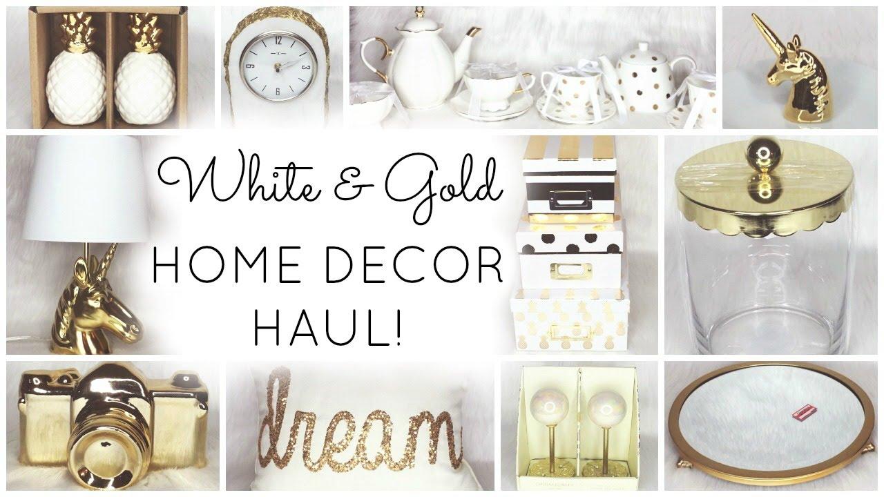White & Gold Home Decor Haul ♡ HomeGoods Target World Market