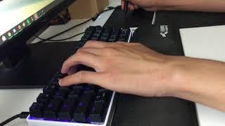 osu! gameplay using new keyboard