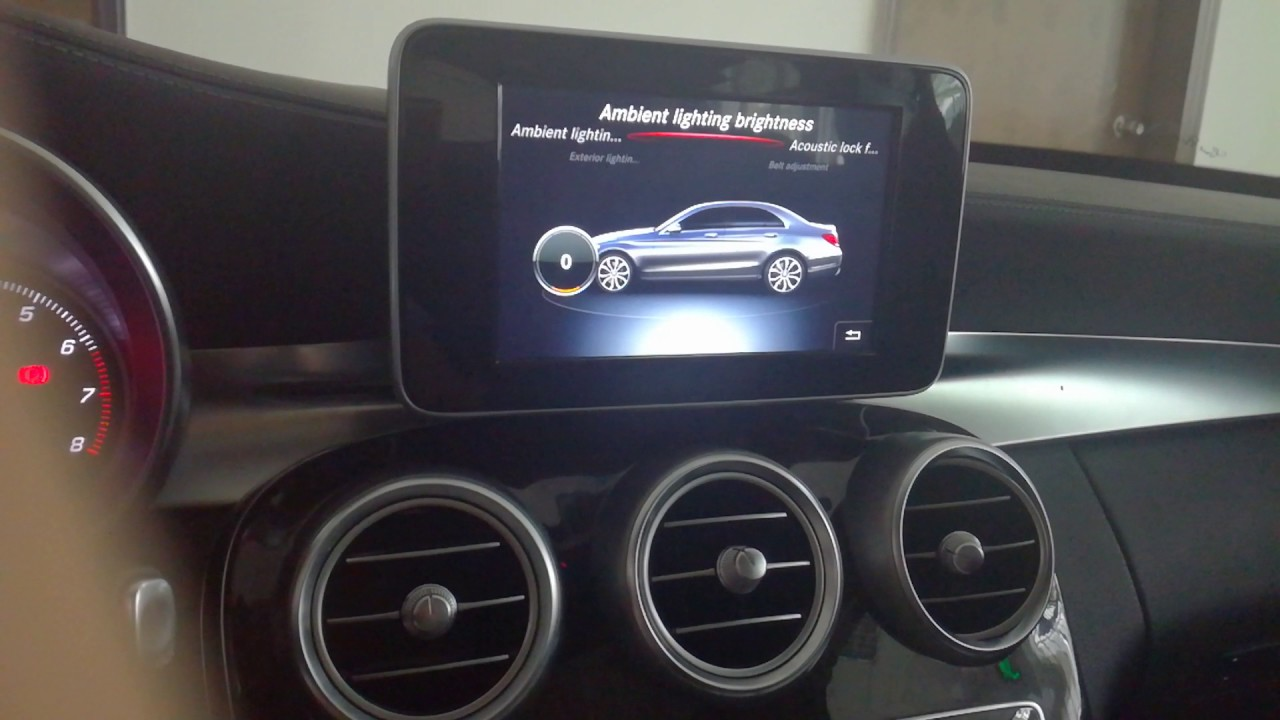 how to activate the ambient light atmosphere light for mercedes benz c w205 glc w253