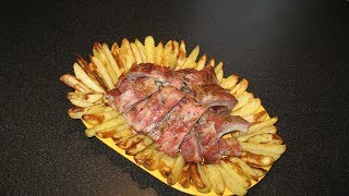 Свиные ребрышки в духовке. Запеченный картофель. Ленивые голубцы рецепт.
