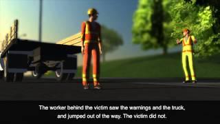 Avoiding Fatalities   Run Over by a Flat Bed Dump Truck