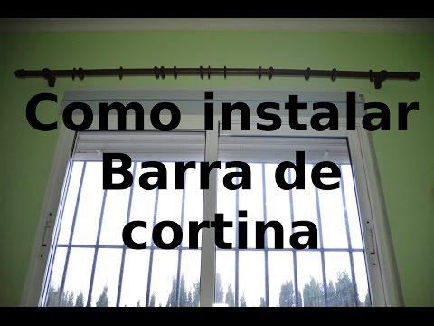 C mo instalar una nueva barra de cortina sin necesidad doovi - Soportes para cortinas ...