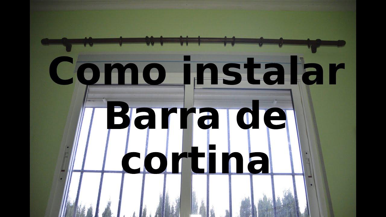 Barra Cortina Madera Natural