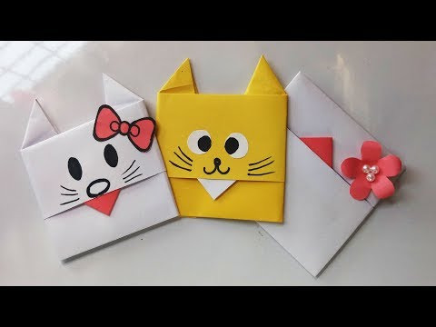 How to make a paper Envelope.Super Easy Origami Envelope Tutorial