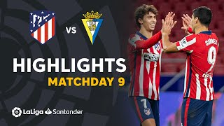 Highlights Atletico Madrid vs Cádiz CF (4-0)