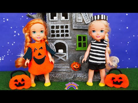 Halloween Party!! Elsa Anna Toddlers Halloween costumes Trick or Treat