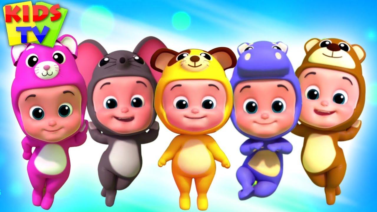 Five Little Babies | Junior Squad Songs | Nursery Rhymes for Kids