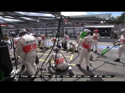 Самый быстрый пит-стоп 2.31 sek Fastest F1 Pit Stop by McLaren Mercedes HD