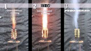 Intumescent And Cementitious Fire Hazard Demonstration Part 1